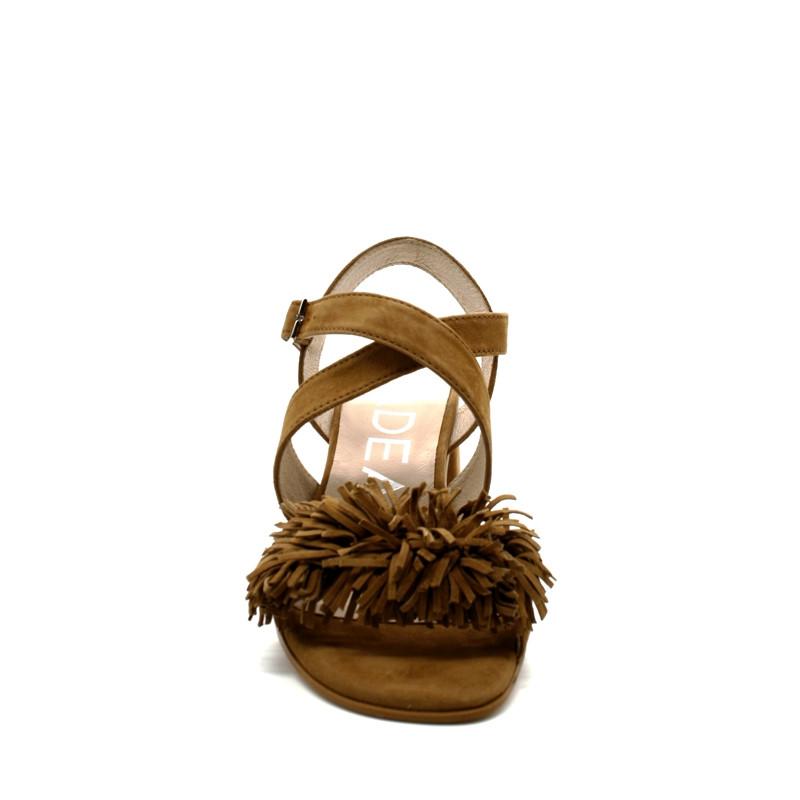 3caff8cbe7cfb1 Sandale Franges Talon Femme Gadea 40941