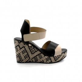 Sandales Compensé Haut Femme Rosemetal Loic