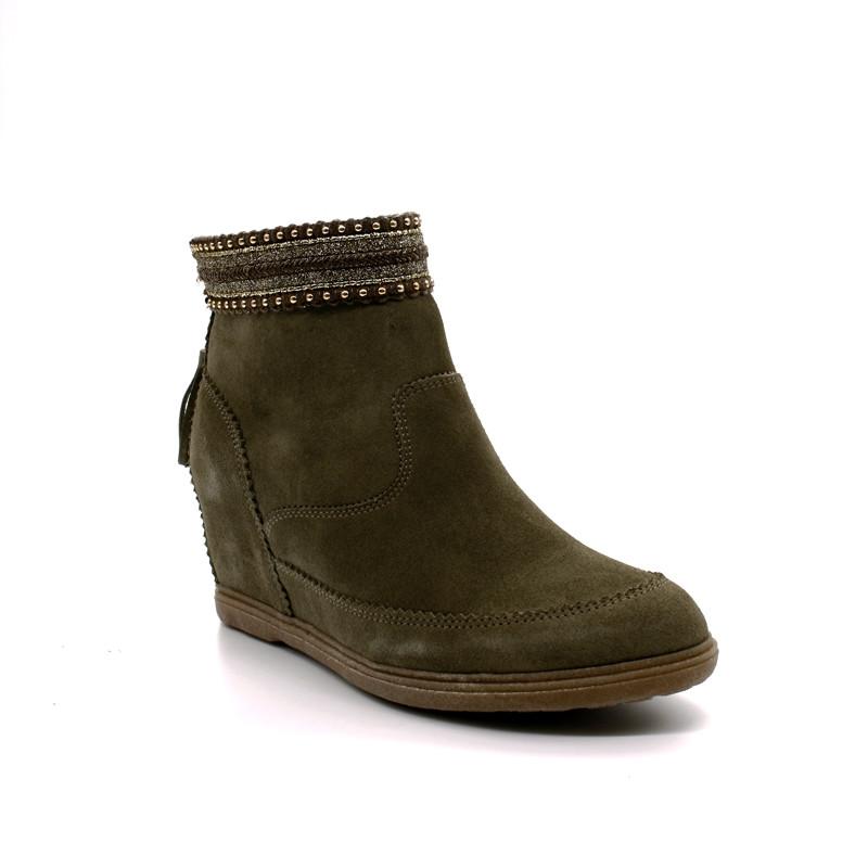c9ead40f448162 Boots Compensées Femme Minka Design Odivina
