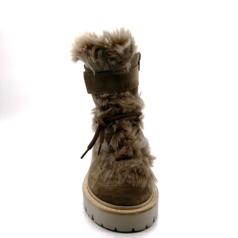 Boots Schmenger à Fourrure Lacets Kennel Femme OnwkP80