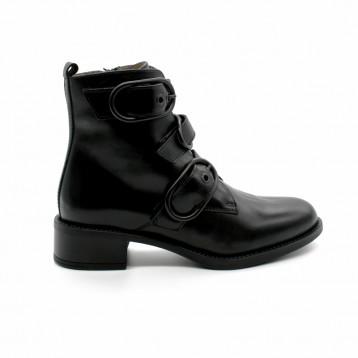 a858921bd1ef Boots Petit Talon Boucles Unisa Edwin
