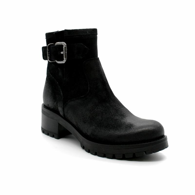 ... Boots Biker Petit Talon Femme Minka Design Paskel ... 7ac2807a6c00