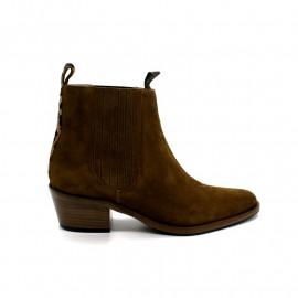 Boots à Talon Femme Free Lance Jane Déco Léopard