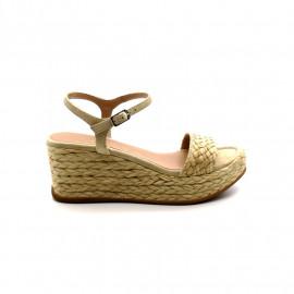 Sandale Compensée Tressée Unisa Katia