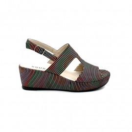 Sandale Compensée Femme Brunate 554