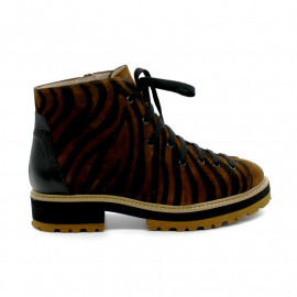 Boots à Lacets Zébrée Femme Gadea 41713