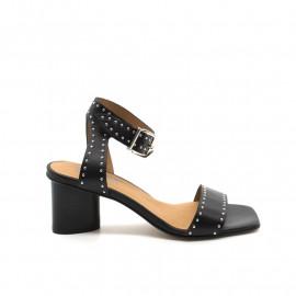 Sandales À Talon Pertini 17055 Noir Clouté