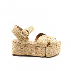 Sandales Compensées Paloma Barcelo Layna Rafia