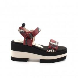 Sandales Compensées Gadea TUD 1103 Red Velcro