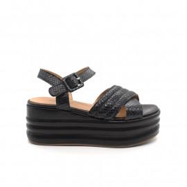 Sandales Compensées Minka Texeira Python