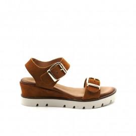 Sandales Compensées Coco Abricot Gaetan