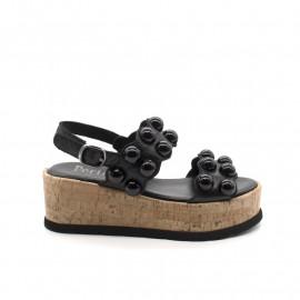 Sandales Compensées Pertini 16693 Noir