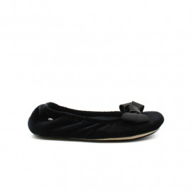 Chaussons Ballerines Femme Isotoner Grand Noeud Satin