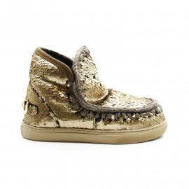 Boots Fourrées Femme MOU Eskimo Sneakers Big Metal Logo