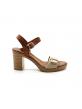 Sandales À Talon Coco Et Abricot V1657D Coclois