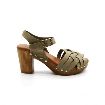 Sandales À Talon Coco et Abricot V1682A Noidan